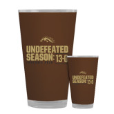 Full Color Glass 17oz-Undefeated Season 13-0 Football 2016