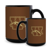 Full Color Black Mug 15oz-W w/ Bronco