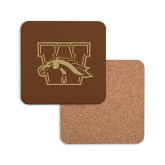 Hardboard Coaster w/Cork Backing-W w/ Bronco