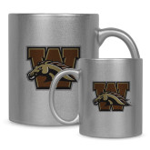 Full Color Silver Metallic Mug 11oz-W w/ Bronco