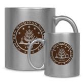 Full Color Silver Metallic Mug 11oz-WMU Seal