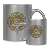 Full Color Silver Metallic Mug 11oz-WMU Seal Gold