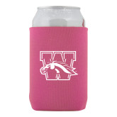 Neoprene Hot Pink Can Holder-W w/ Bronco