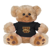 Plush Big Paw 8 1/2 inch Brown Bear w/Black Shirt-W w/ Bronco