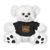 Plush Big Paw 8 1/2 inch White Bear w/Black Shirt-W w/ Bronco