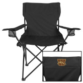 Deluxe Black Captains Chair-W w/ Bronco