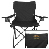 Deluxe Black Captains Chair-Western Michigan University w/ Bronco Head