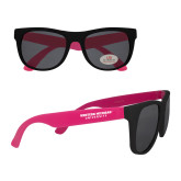 Black/Hot Pink Sunglasses-Western Michigan University