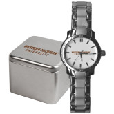 Mens Stainless Steel Fashion Watch-Western Michigan University