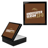 Ebony Black Accessory Box With 6 x 6 Tile-Undefeated Season Football 2016
