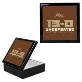 Ebony Black Accessory Box With 6 x 6 Tile-13-0 Undefeated Football Season 2016
