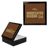 Ebony Black Accessory Box With 6 x 6 Tile-Undefeated Season 13-0 Football 2016