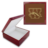 Red Mahogany Accessory Box With 6 x 6 Tile-W w/ Bronco
