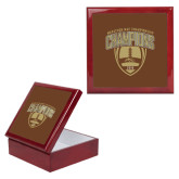 Red Mahogany Accessory Box With 6 x 6 Tile-2016 Marathon MAC Football Champions