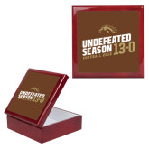 Red Mahogany Accessory Box With 6 x 6 Tile-Undefeated Season Football 2016