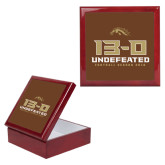 Red Mahogany Accessory Box With 6 x 6 Tile-13-0 Undefeated Football Season 2016