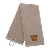 Stone Golf Towel-W w/ Bronco