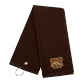 Brown Golf Towel-W w/ Bronco