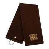Brown Golf Towel-W w/ Bronco