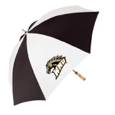 Black/White Umbrella-WMU w/Bronco Head