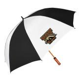 62 Inch Black/White Umbrella-W w/ Bronco