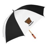 62 Inch Black/White Umbrella-Western Michigan University w/ W