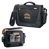 High Sierra Black Upload Business Compu Case-WMU w/ Bronco Head