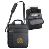 Kenneth Cole Black Vertical Checkpoint Friendly Messenger-WMU w/ Bronco Head