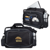 Hive Checkpoint Friendly Black Compu Case-WMU w/ Bronco Head