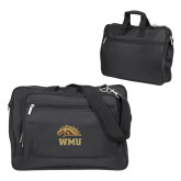 Metro Black Compu Brief-WMU w/ Bronco Head