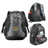 Wenger Swiss Army Tech Charcoal Compu Backpack-WMU w/ Bronco Head