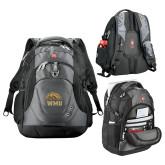 Wenger Swiss Army Tech Charcoal Compu Backpack-WMU w/ Bronco Head