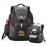 High Sierra Big Wig Black Compu Backpack-WMU w/ Bronco Head