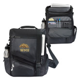 Momentum Black Computer Messenger Bag-WMU w/ Bronco Head