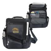 Momentum Black Computer Messenger Bag-WMU w/ Bronco Head