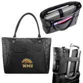 Sophia Checkpoint Friendly Black Compu Tote-WMU w/ Bronco Head