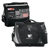 Slope Black/Grey Compu Messenger Bag-W Medicine
