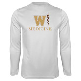 Performance White Longsleeve Shirt-W Medicine