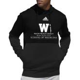 Adidas Black Team Issue Hoodie-Vertical Logo
