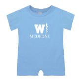 Light Blue Infant Romper-W Medicine