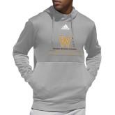 Adidas Grey Team Issue Hoodie-Vertical Logo
