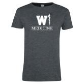 Ladies Dark Heather T Shirt-W Medicine