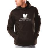 Under Armour Brown Armour Fleece Hoodie-Vertical Logo