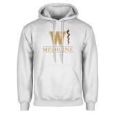 White Fleece Hoodie-W Medicine