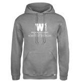 Russell DriPower Grey Fleece Hoodie-Vertical Logo
