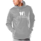 Under Armour Grey Armour Fleece Hoodie-Vertical Logo
