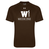 Under Armour Brown Tech Tee-W Medicine
