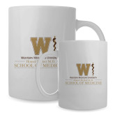 Full Color White Mug 15oz-Vertical Logo