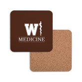 Hardboard Coaster w/Cork Backing-W Medicine