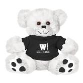 Plush Big Paw 8 1/2 inch White Bear w/Black Shirt-W Medicine